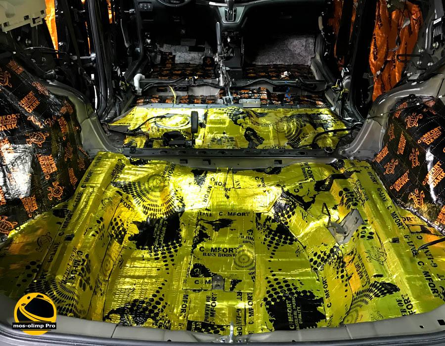 виброизоляция багажника хонда срв