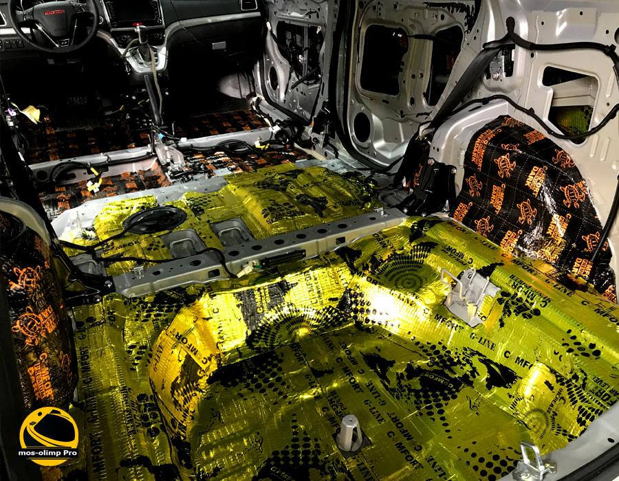 виброизоляция багажника Haval H6