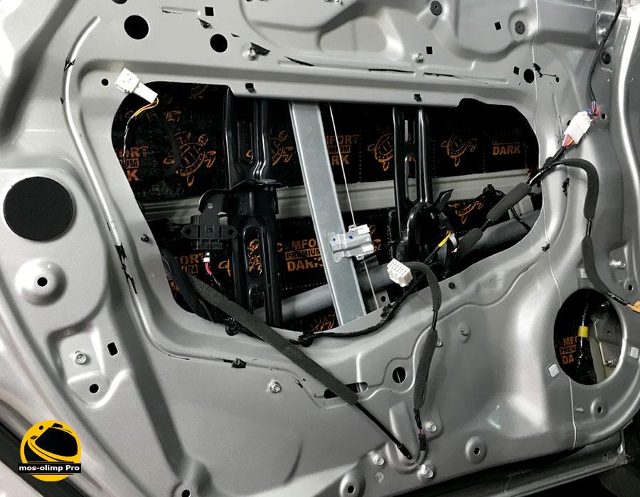 виброизоляция дверей Хонда Пилот