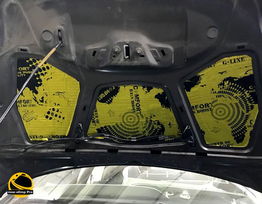 виброизоляция капота Форд Фокус