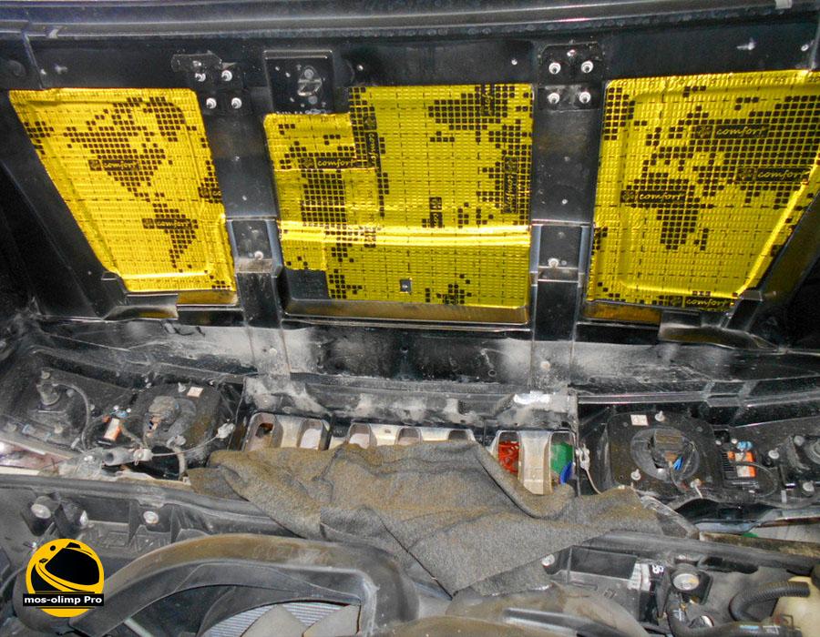 виброизоляция капота Hummer H2