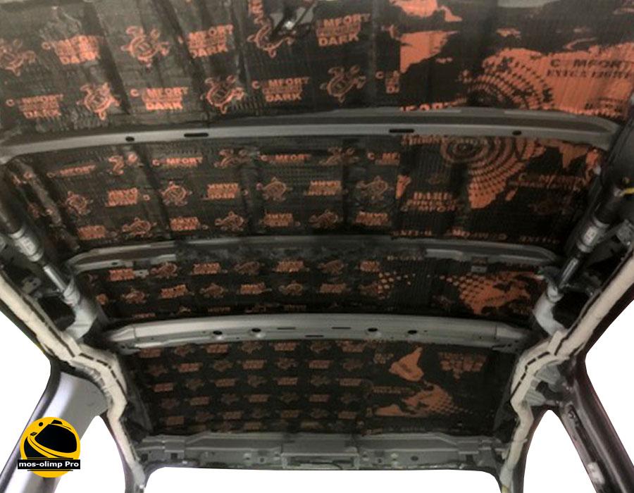 виброизоляция крыши Hummer H2