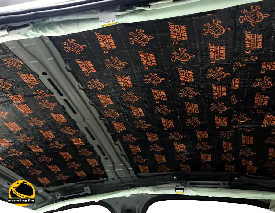 шумоизоляция крыши автомобиля вибро материалами