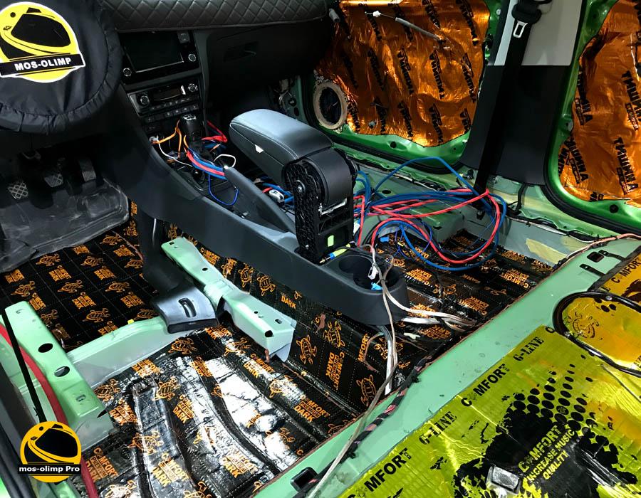 шумоизоляция автомобиля рапид