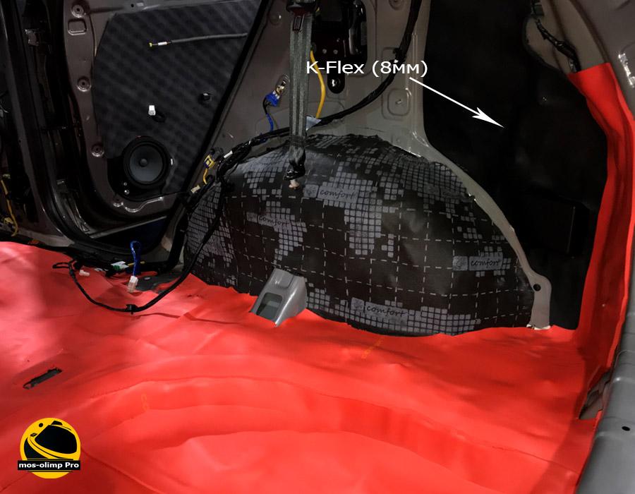 шумоизоляция багажника киа спортейдж