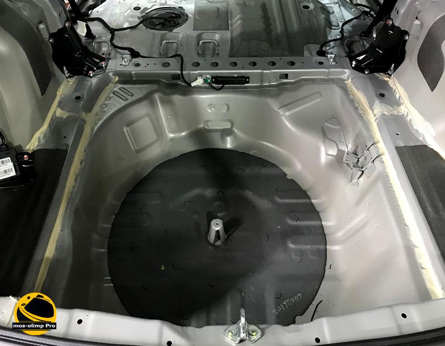 шумоизоляция багажника Хонда Пилот