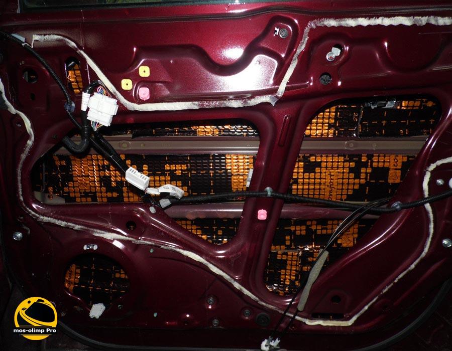 шумоизоляция дверей Acura RDX_1