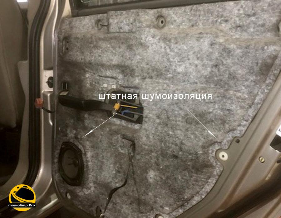шумоизоляция дверей Hummer H2