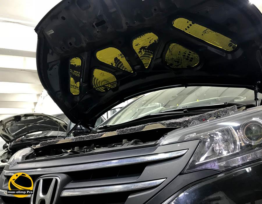 шумоизоляция капота хонда срв