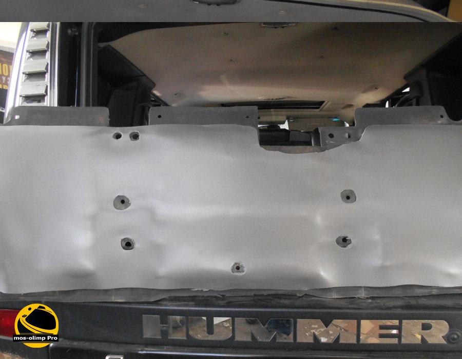шумоизоляция капота Hummer H2