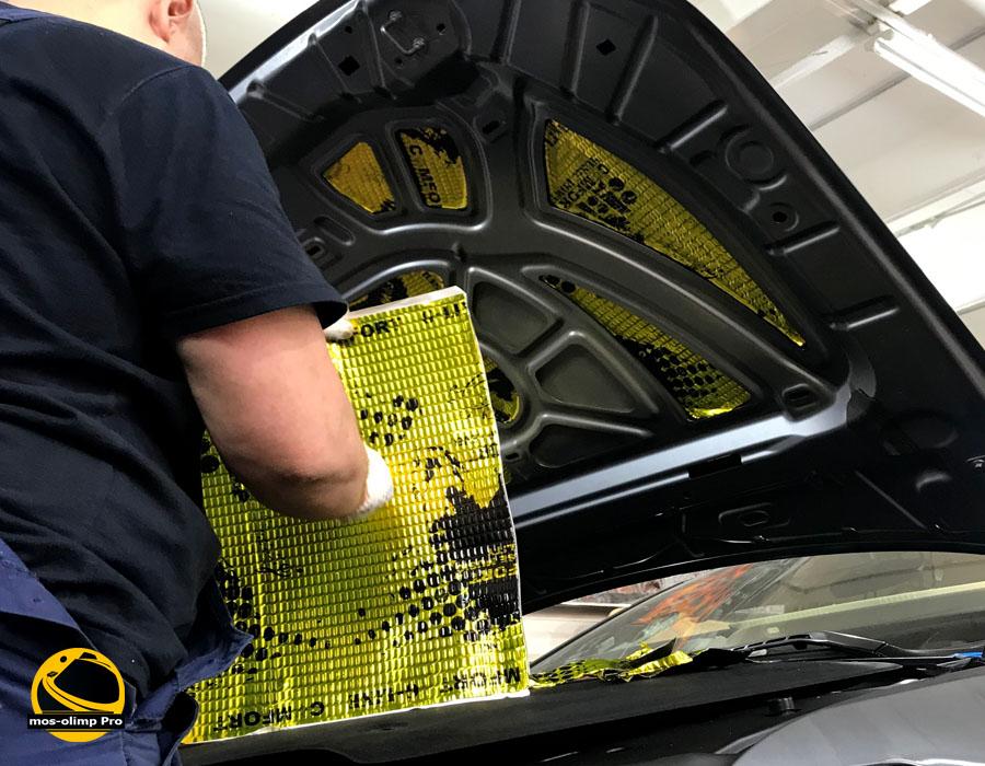 шумоизоляция капот Volvo S90