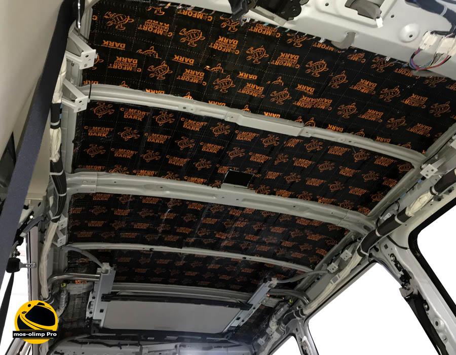 шумоизоляция крыши инфинити qx80