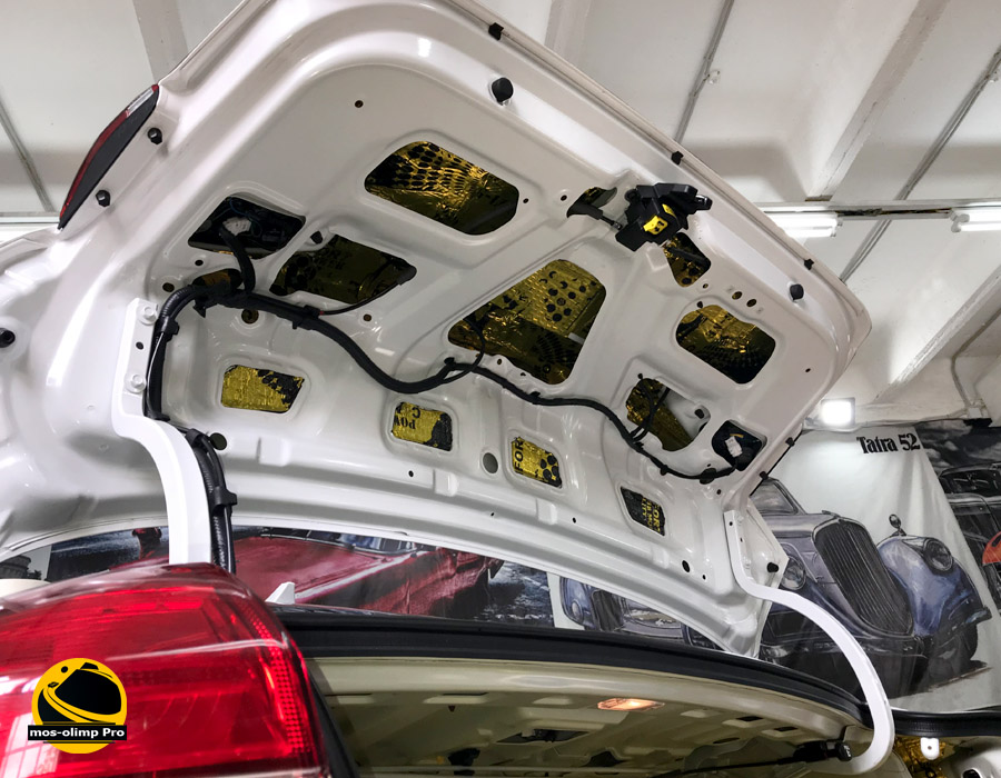 шумоизоляция крышка багажника киа церато.