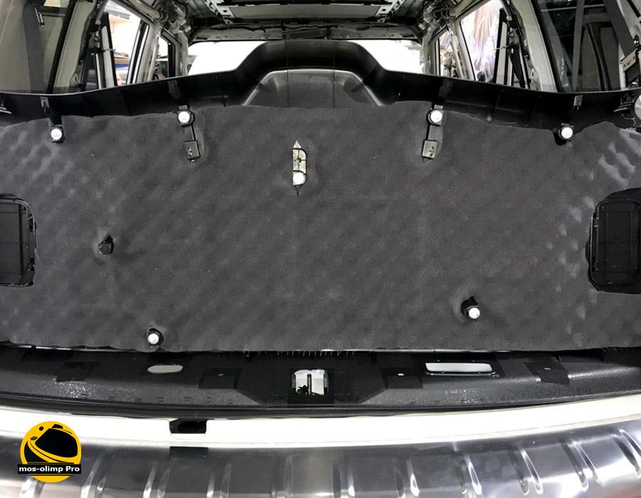 шумоизоляция крышки багажника инфинити qx80