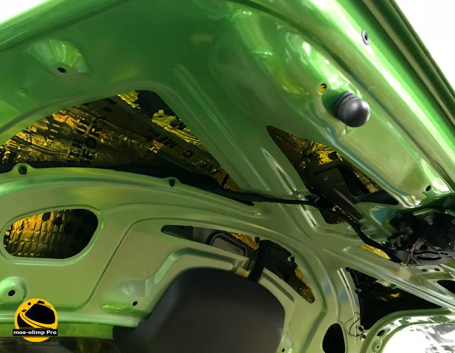 шумоизоляция крышки багажника шкода рапид
