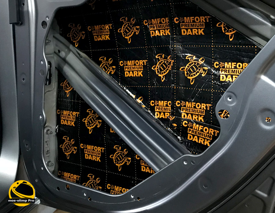 шумоизоляция дверей автомобиля  вибро материалами