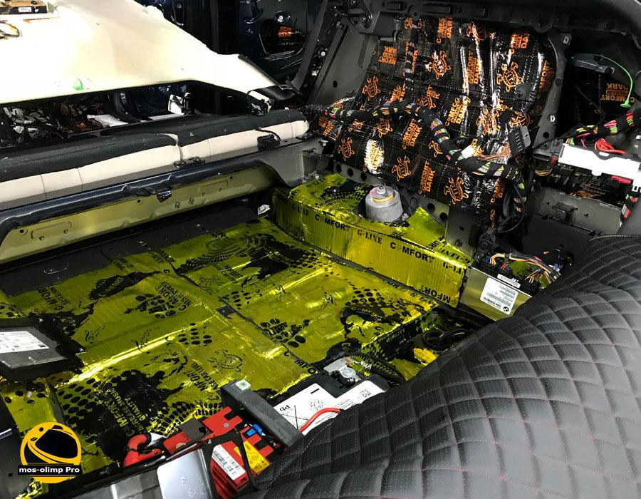 виброизоляция багажника бмв х6