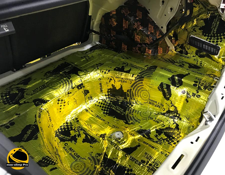 виброизоляция багажника киа оптима