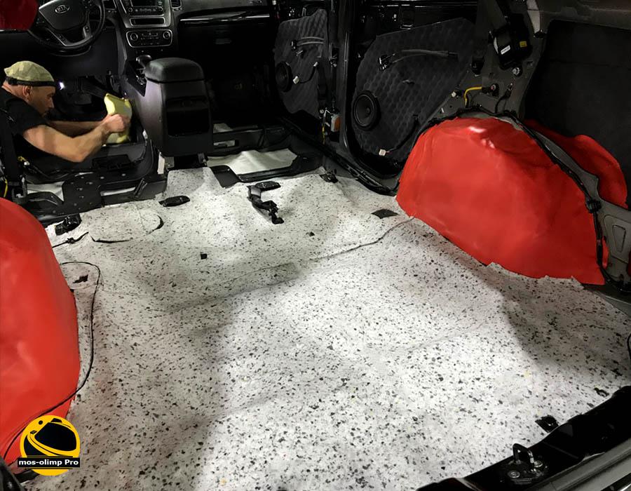 шумоизоляция багажника киа соренто