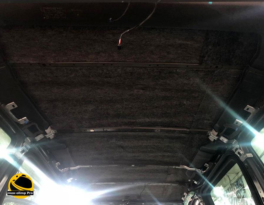 шумоизоляция крыши мерседес виано
