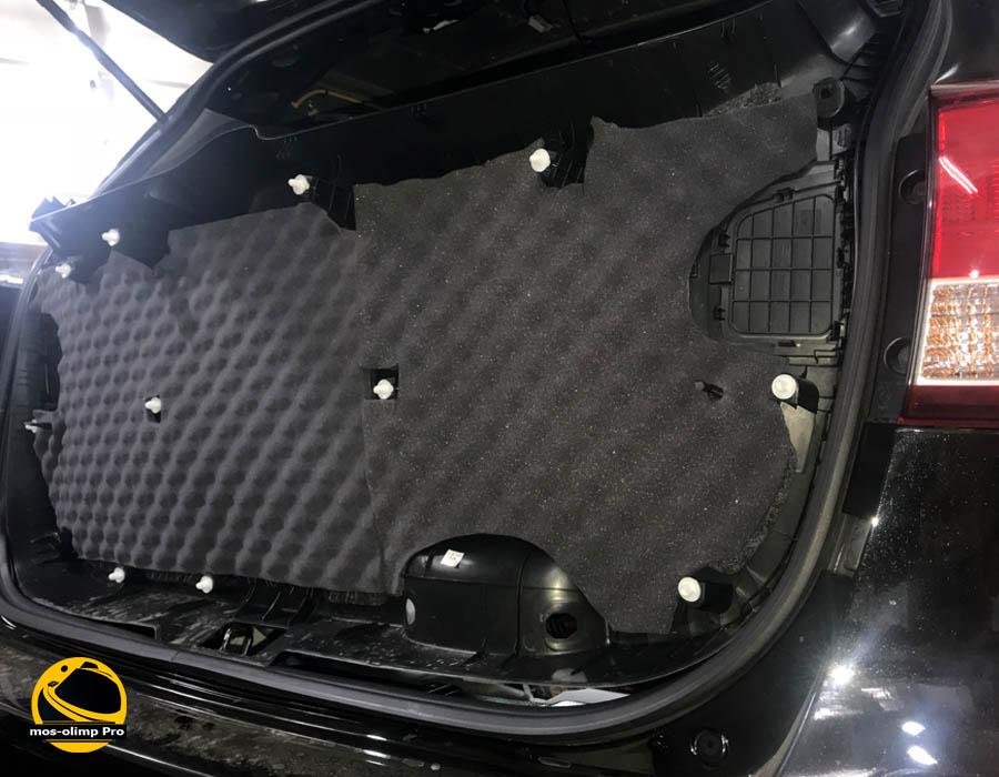 шумоизоляция крышки багажника соренто