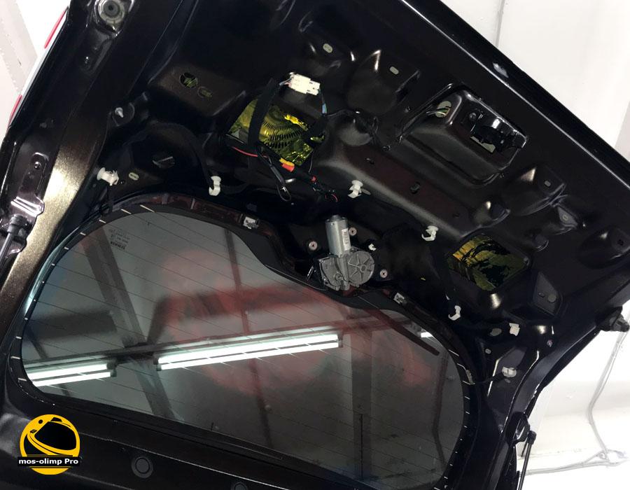 шумоизоляция крышки багажника каптур