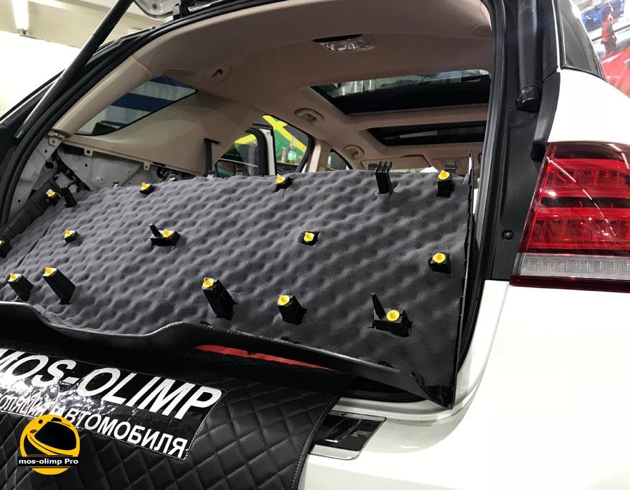 шумоизоляция крышки багажника мерседес GLS