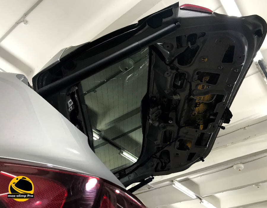 виброизоляция крышки багажника санта фе 2019