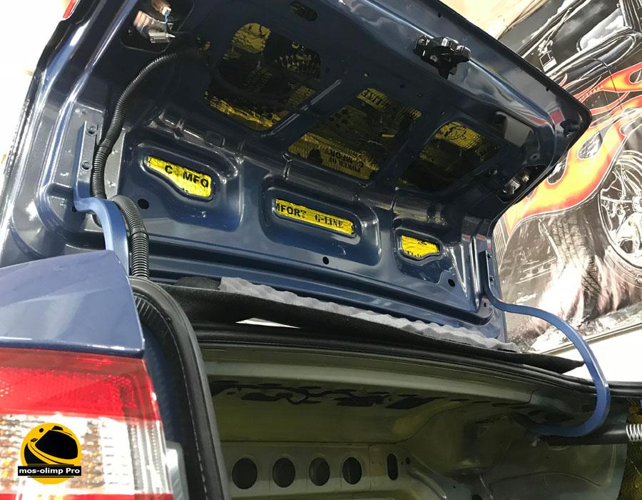 шумоизоляция багажника веста
