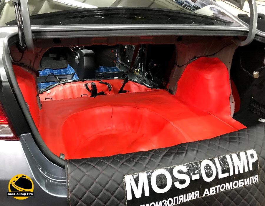 шумоизоляция багажника рио 4