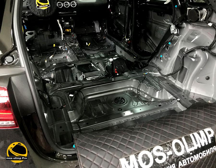 шумоизоляция багажника mercedes b200