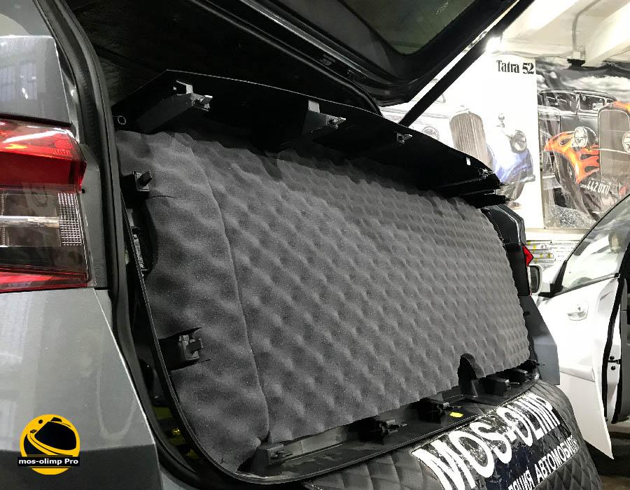 шумоизоляция крышки багажника кодиак