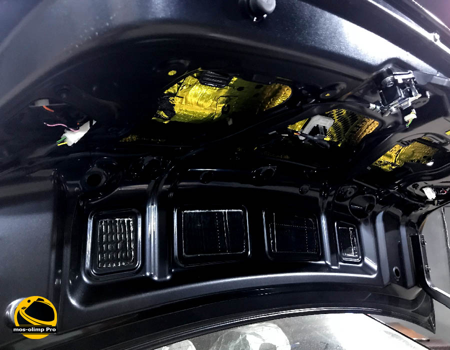 шумоизоляция крышки багажника рио 4