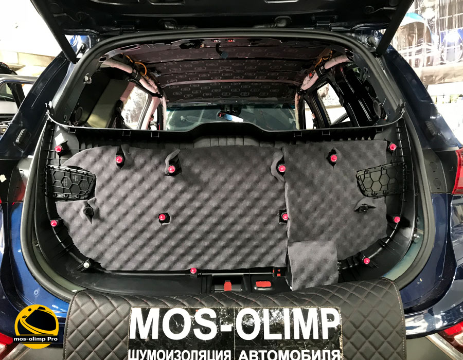 шумоизоляция крышки багажника санта фе 4