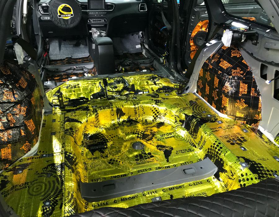 виброизоляция багажника сид