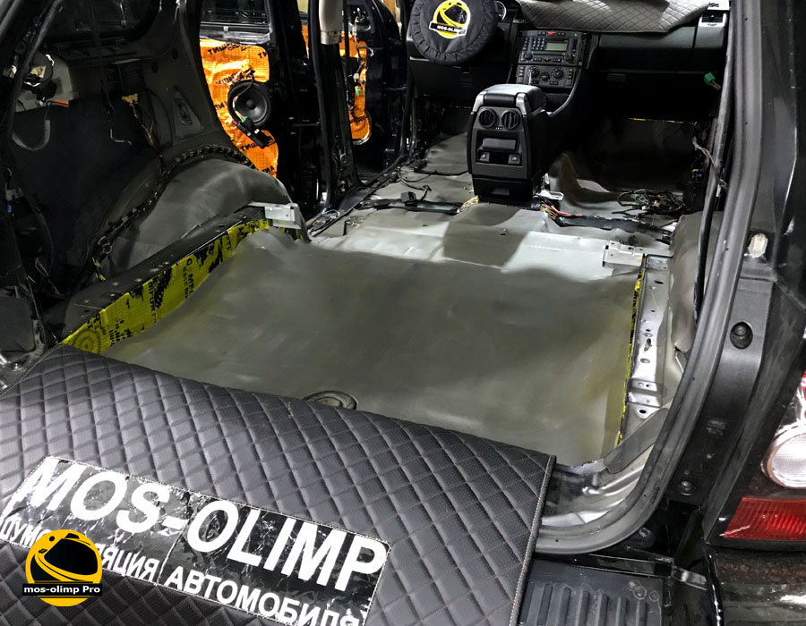 шумоизоляция багажника ровер