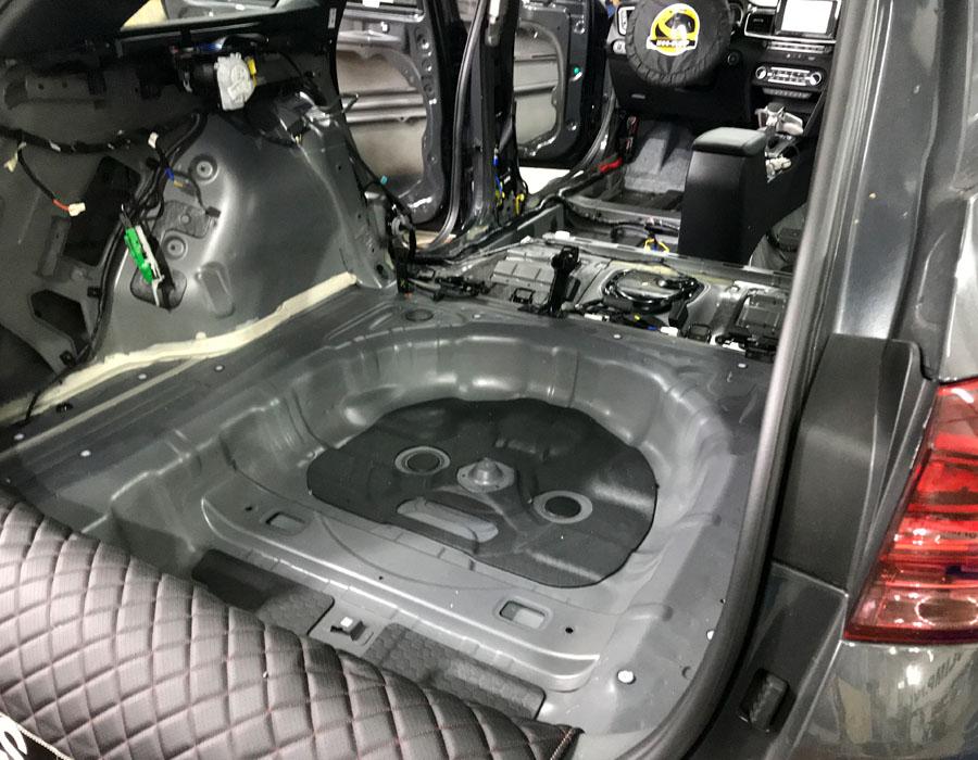 шумоизоляция багажника сид