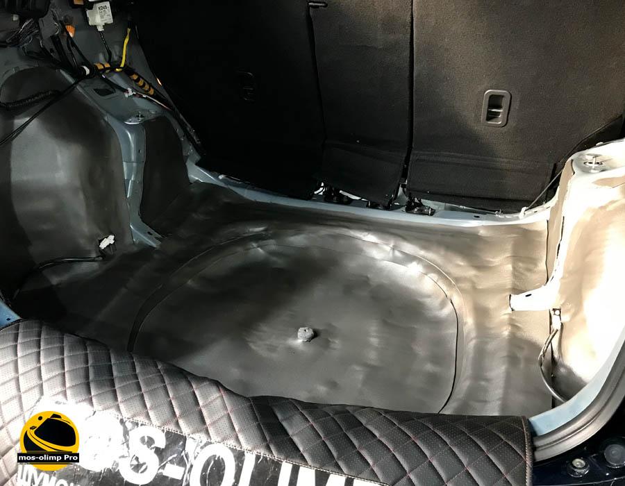 шумоизоляция багажника сх5