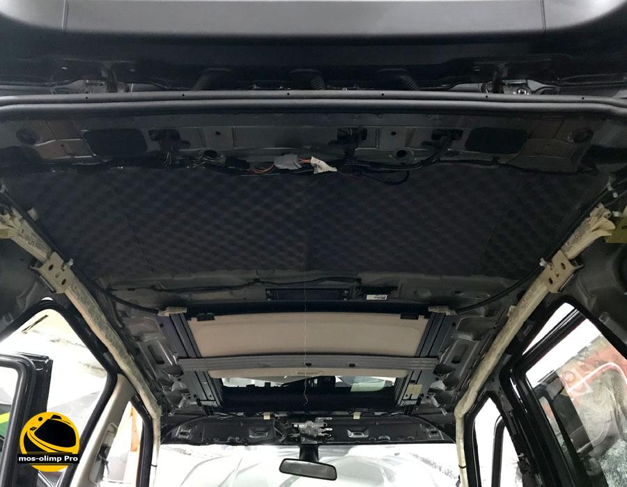 шумоизоляция крыши рендж ровер