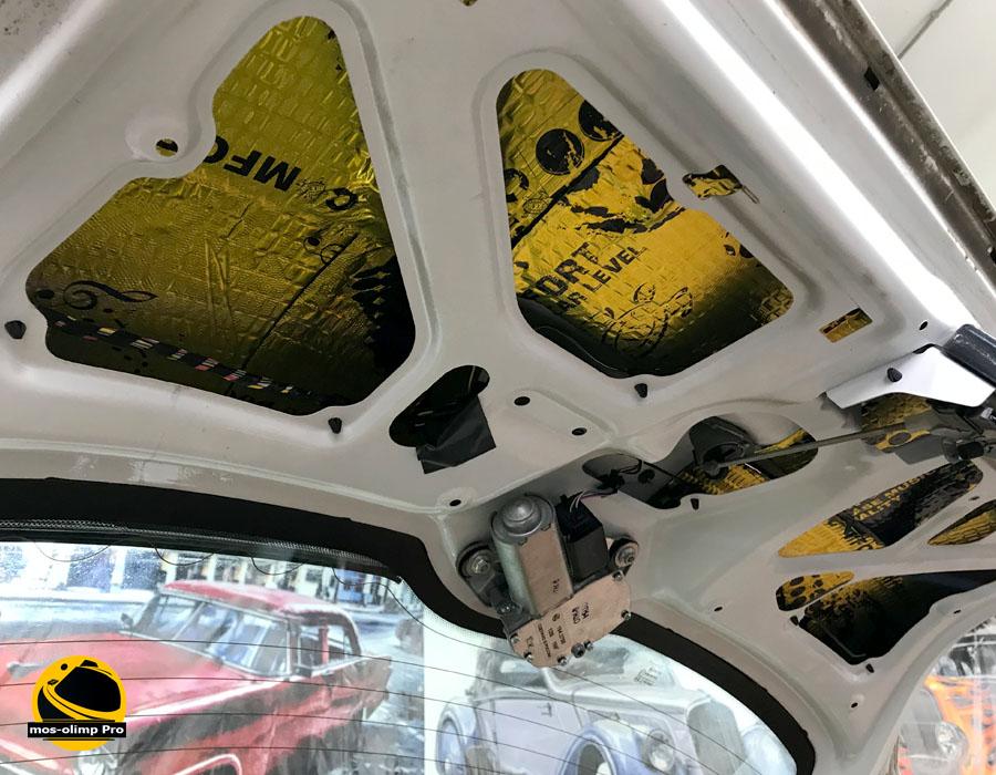 шумоизоляция крышки багажника лады калины