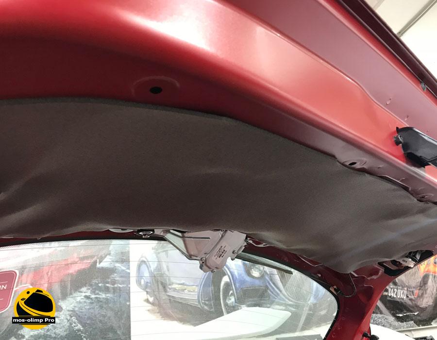 шумоизоляция крышки багажника рио х лайн