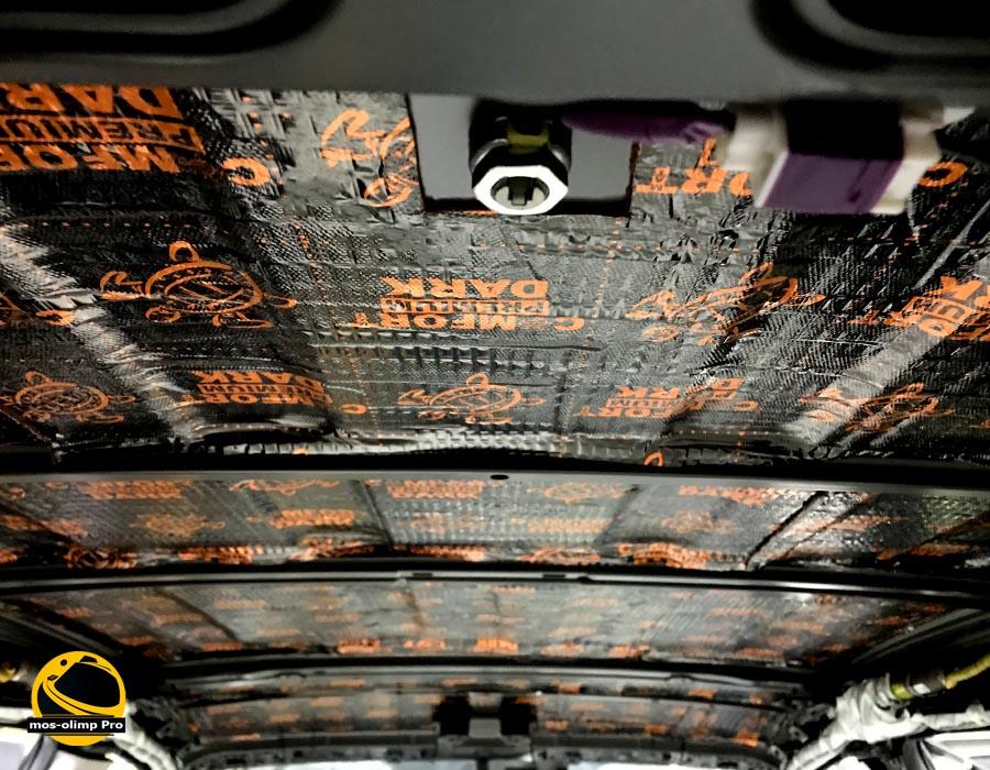 виброизоляция крыши тойота рав 4
