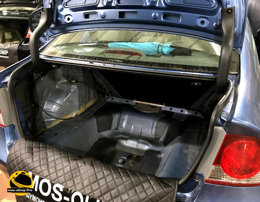 шумоизоляция багажника цивик