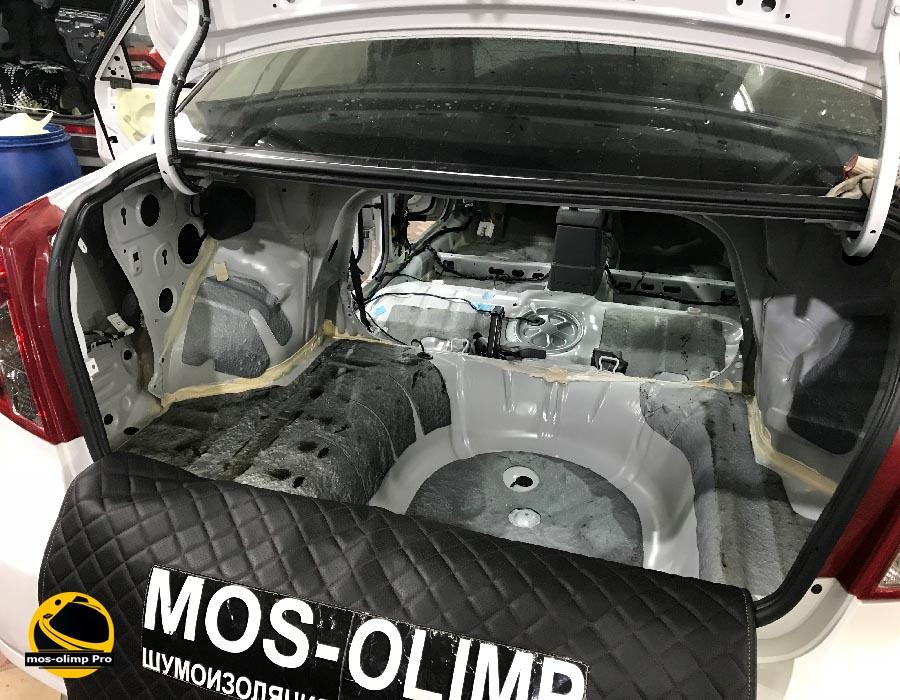 шумоизоляция багажника шевроле лачетти