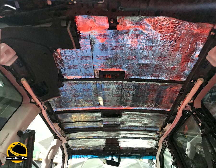шумоизоляция крыши ленд крузер 200