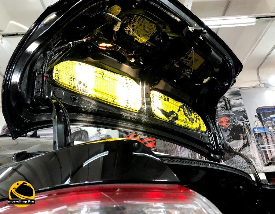 шумоизоляция крышки багажника камри 40