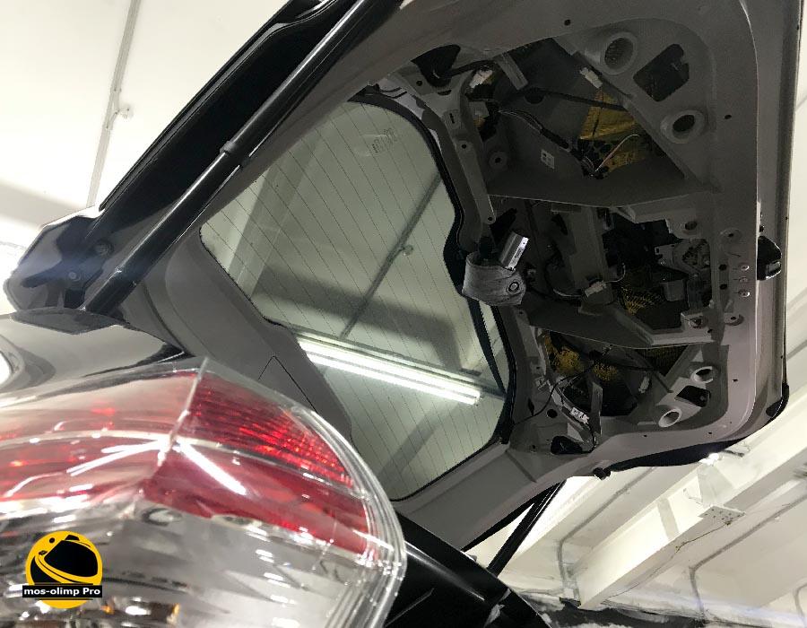 шумоизоляция крышки багажника ниссан икстрейл