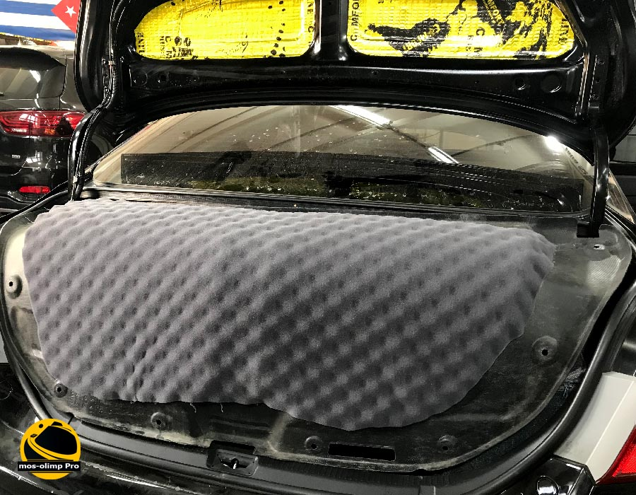 шумоизоляция крышки багажника тойота камри 40