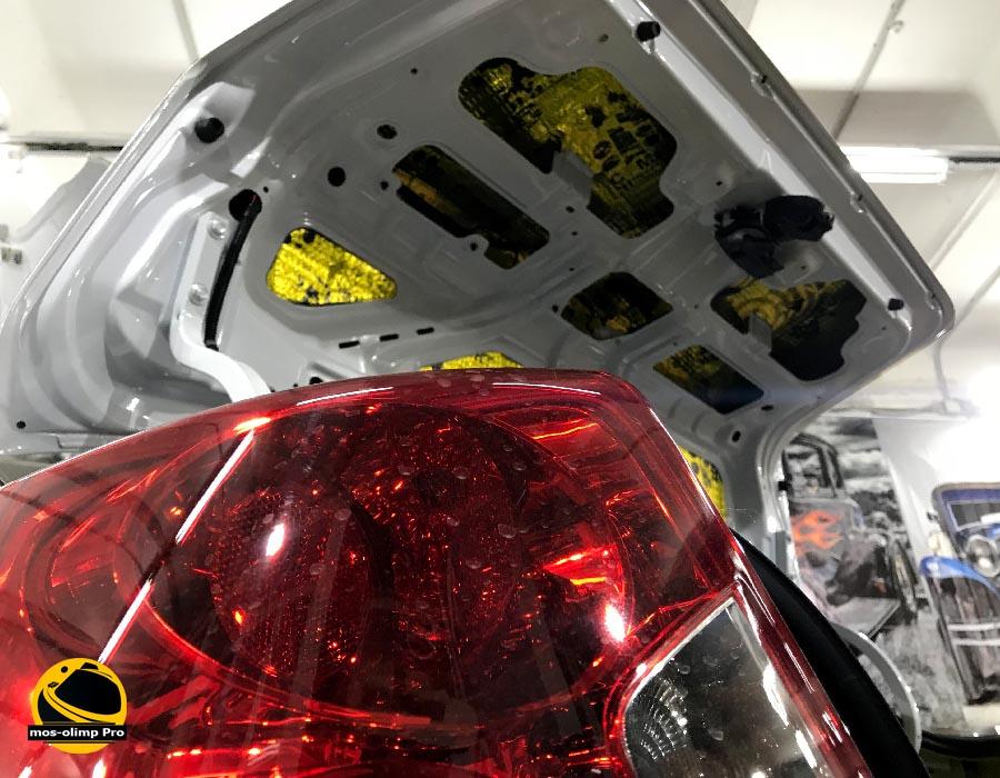 шумоизоляция крышки багажника шевроле лачетти