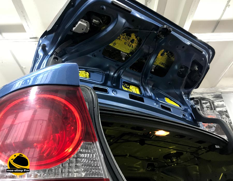 шумоизоляция крышки багажника civic